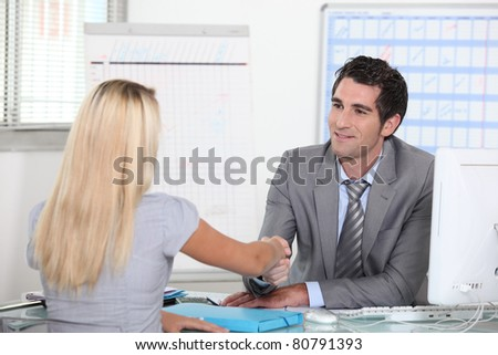 Interview - stock photo