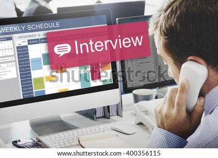 Interview Evaluation Job Interview Question Concept - stock photo