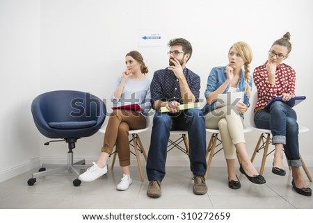 Interview is always a stresfull situation - stock photo