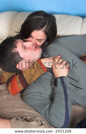 intimate color image of sensual couple
