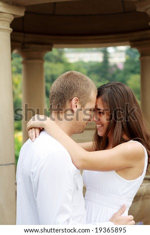 intimate cute couple - stock photo
