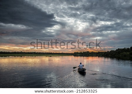 Into the Amazon - stock photo