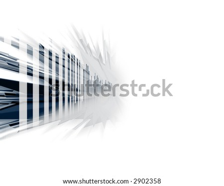 Into the future abstract background with depth - stock photo