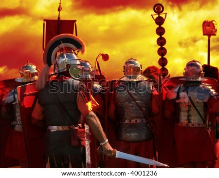 Into The Heat of Battle, part of my Roman Army series - stock photo