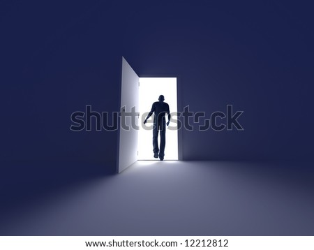 Into the Light	 - stock photo