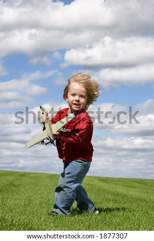 Into the wind - stock photo