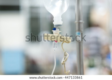 intravenous fluid care in patient,in general hospital