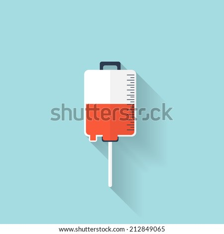 Intravenous therapy system icon.Medical dropper. Health care. - stock photo