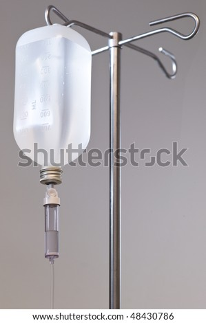 Intravenous therapy with dropper and infusion standard