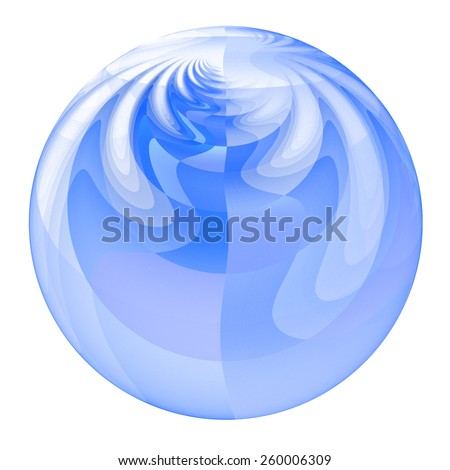 Intricate blue / white ripple / droplet on white background  - stock photo