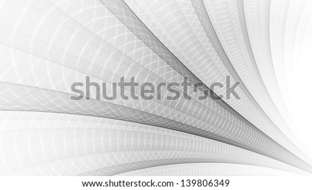 Intricate grey ripple design on white background