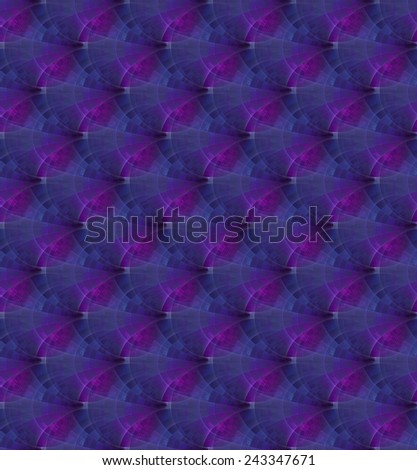Intricate magenta / blue tiled ripples on black background (tile able) - stock photo