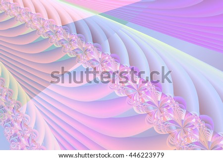 Intricate pale pink, blue and purple abstract ripple / wave / woven design - stock photo