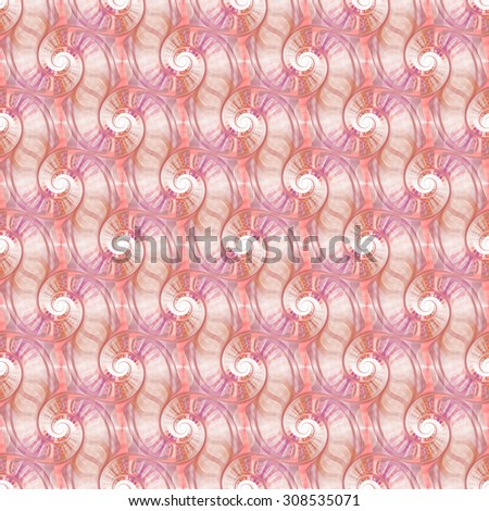 Intricate pink / peach / purple tile able spirals on white background  - stock photo