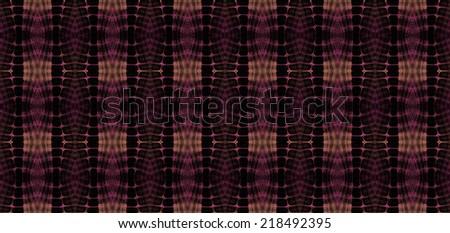 Intricate purple / copper woven diamond design on black background (tile able) - stock photo