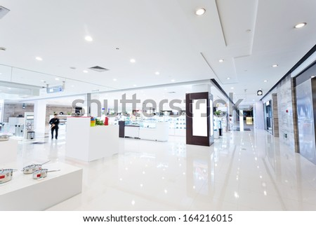 intrior of shopping mall - stock photo