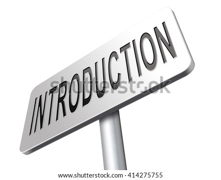 Introduction or about us road sign a biography or bio