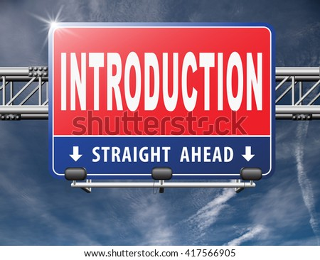 Introduction or about us road sign a biography or bio - stock photo