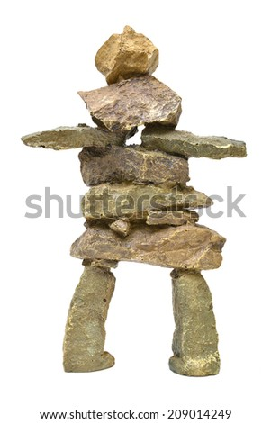 Inukshuk - stock photo