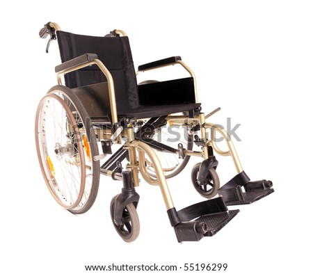 invalid wheelchair isolated on the white background - stock photo