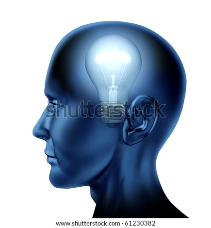 inventive idea dicovery Brain mind intelligence isolated
