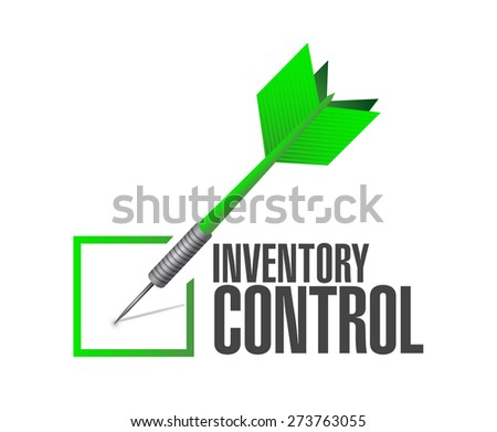 inventory control check dart sign concept illustration design over white - stock photo