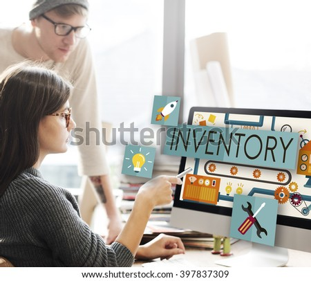 Inventory Stock Manufacturing Assets Goods Concept - stock photo
