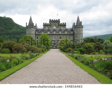 Inverarey Castle, Inverarey, Scotland - stock photo