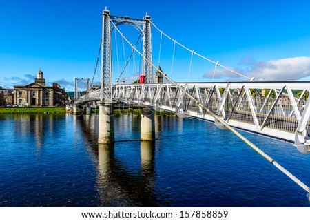 Inverness suspension bridge, Scotland, UK