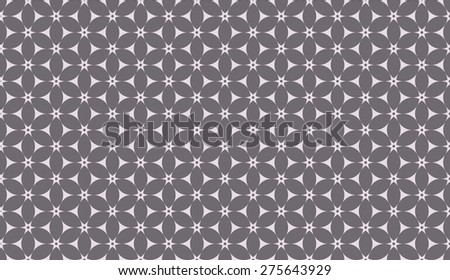Inverse black and white seamless floral pattern