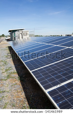 inverter and store energy building and solar cell park