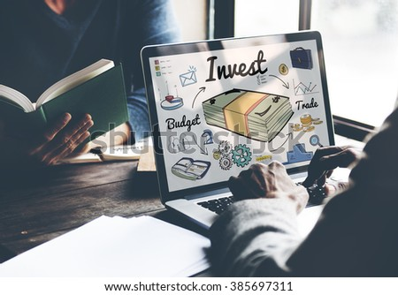 Invest Budget Trade Business Economy Concept - stock photo