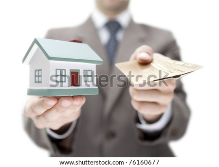 Invest in real estate concept. Shallow DOF - stock photo