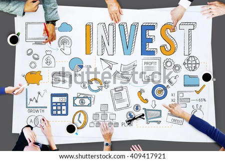 Invest Investment Finance Banking Assets Revenue Concept - stock photo