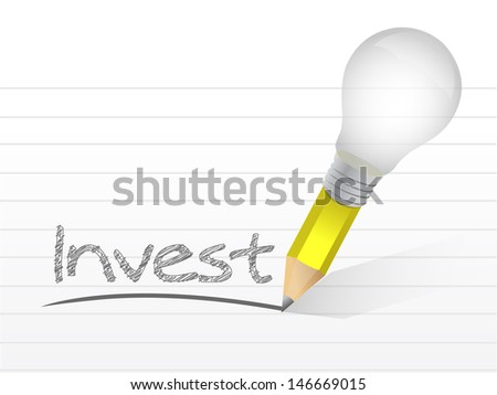 invest message illustration design over white paper - stock photo