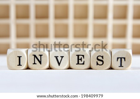invest word concept - stock photo