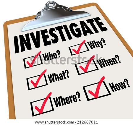 Investigation Stock Ph...