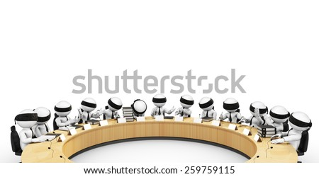 investigation committee - stock photo