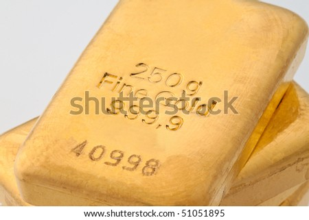 Investing in real gold than gold bullion and gold coins - stock photo
