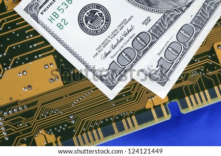 Investing in technology concept of future earnings - stock photo