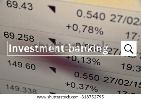 Investment advisor written in search bar with the financial data visible in the background. Multiple exposure photo.