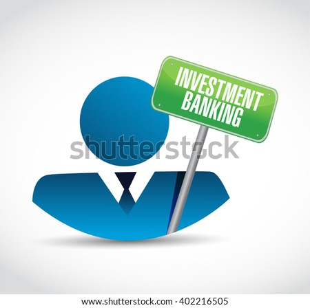 investment banking businessman and sign concept illustration design graphic - stock photo