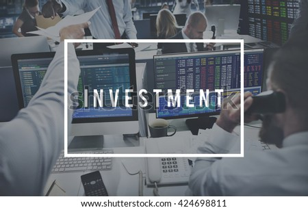Investment Business Accounting Banking Money Concept - stock photo