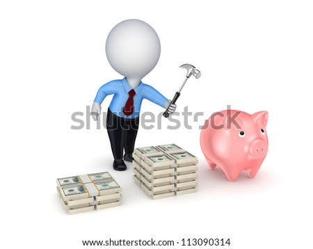 Investment concept.Isolated on white background.3d rendered.