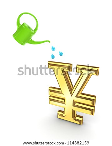 Investment concept.Isolated on white background.3d rendered. - stock photo