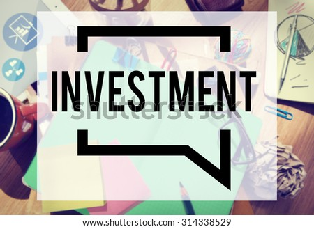 Investment Financial Economy Interest Risk Concept - stock photo