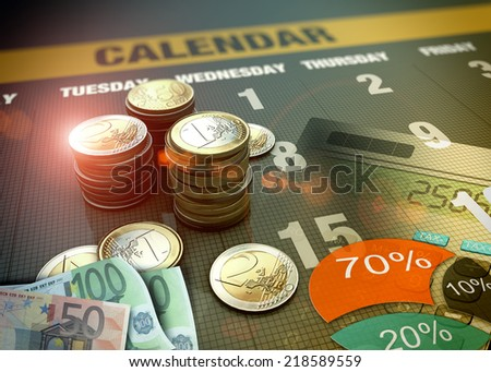 Investment in financial markets as concept - stock photo