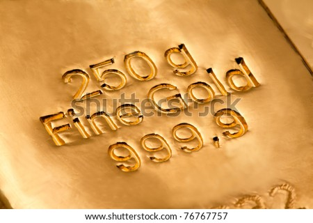 Investment in real gold than gold bullion and gold coins. safe investment - stock photo
