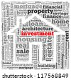 Investment info-text graphics and arrangement concept on white background (word cloud) - stock photo