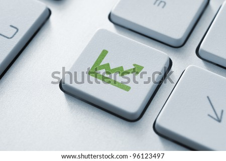 Investment key on the modern keyboard. Toned Image. - stock photo